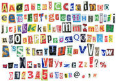 Grunge alphabet — Stock Photo