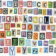 Newspaper alphabet - Stock Photo