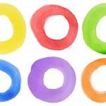akvarell cirklar — Stockfoto