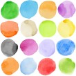 Watercolor circles - Stock Photo