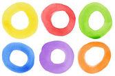 Watercolor circles — Stock Photo