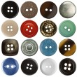 Sewing buttons — Stock Photo