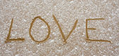 Love in the sand — Stock Photo