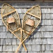 Stock Photo: Antique Snowshoes