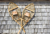 Antique Snowshoes — Stock Photo