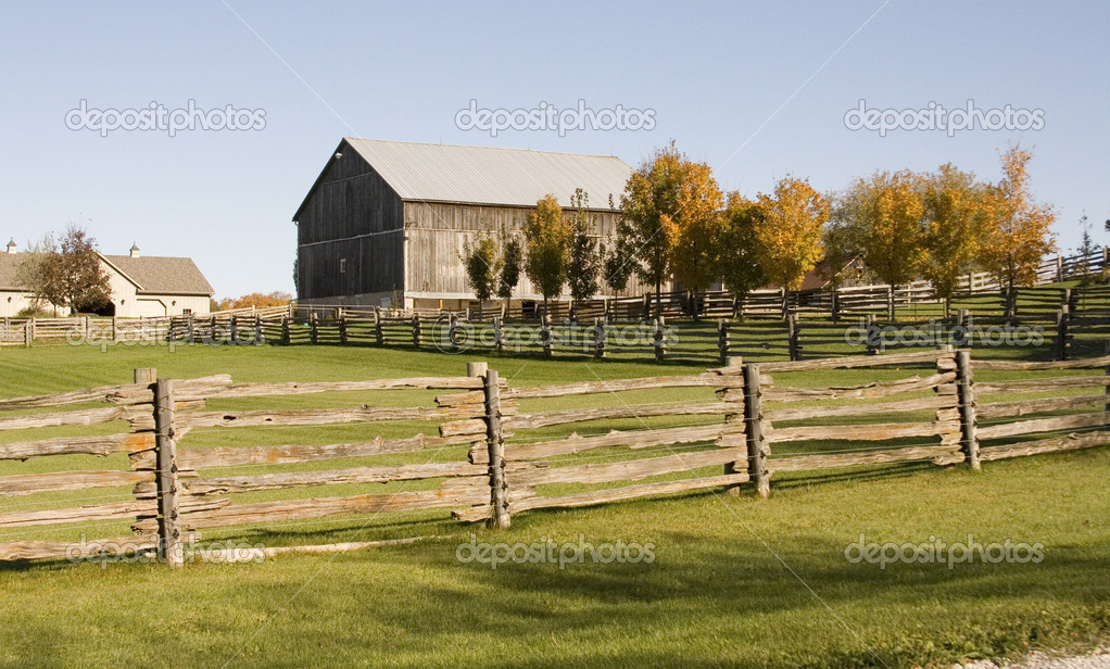 Old Wooden Fence Farm