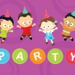 Little party kids - Stock Vector