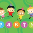 Stock Vector: Little party kids 2