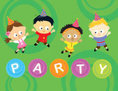 Little party kids 2 — Stock Vector