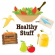 Healthy stuff 1 — Stock Vector