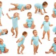 Collection of a baby boy's behavior - Stock Photo