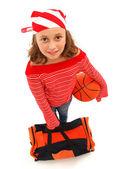 Basketball player girl — Stock Photo