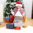 Royalty-Free Stock Photo: Girl with Christmas presents