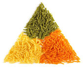 Bunch of naturally colored pasta — Stock Photo