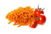Pasta with natural red colorant — Stock Photo