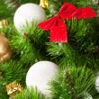 Stock Photo: Green branches of a Christmas tree