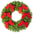 クリスマスの花輪 — ストック写真
