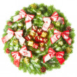 Christmas wreath — Stock fotografie #5112331