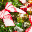 Green branches of a Christmas tree — Stock Photo #5112338