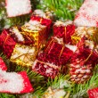 Green branches of a Christmas tree — Stock Photo #5112341