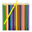 Stock Photo: Colored pencils on white background