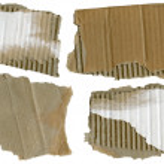Cardboard pieces, — Stock Photo