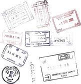 Carimbos de passaporte — Fotografia Stock