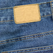 Royalty-Free Stock Photo: Blank leather label on jeans