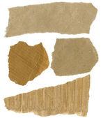 Cardboard pieces — Stock Photo