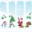 Four Christmas banners — Stock Vector