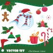 Vector Christmas icons — Stok Vektör