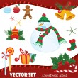 Vector Christmas icons — Stock Vector