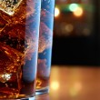 Two glasses of cola in a bar — Stock Photo #5047309