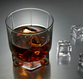 Whiskey with ice — Stock Photo