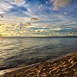 Sand beach at sunset in Phu Quoc close to Duong Dong, Vietnam — Stock Photo