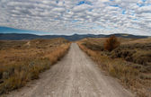 Unpaved Road in Montana — Stock Photo