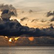 Fishing boat with threatening clouds over South China Sea at Phu Quoc, Viet — Stock Photo #4160077