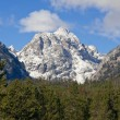 Stock Photo: Snowcapped mountain at Grand Teton National Park, Wyoming, USA