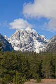 Snowcapped mountain at Grand Teton National Park, Wyoming, USA — Stock Photo