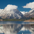Jenny lake at Grand Teton National Park, Wyoming, USA - Stock Photo