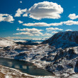 Snow-capped mountains, Beartooth Pass close to Yellowstone National Park, W — Stock Photo