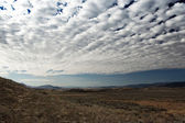 Landscape in Montana with clouded sky — Stock Photo