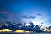Sunset at South China Sea with big skies and ships, Phu Quoc, Vietnam — Stock Photo