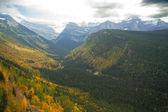 冰川国家公园: 去到太阳路 — 图库照片