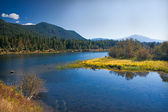 Lakeland with meadow in Montana — Stock Photo