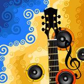 吉他 — 图库矢量图片