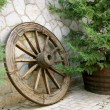 Retro wooden wheel — Stock Photo #5150296