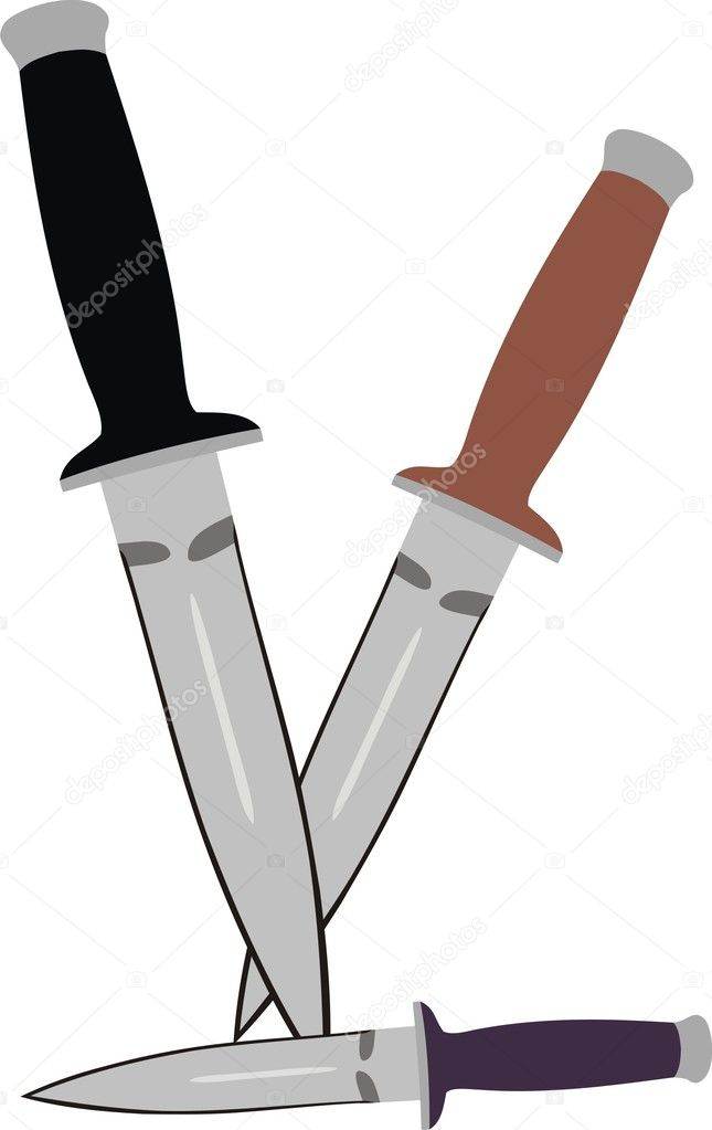 A set from three knifes — Stock Vector #4092320