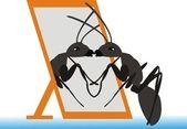 Beautiful ant — Stock Vector