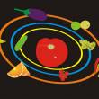 Planet from vegetables - Imagen vectorial